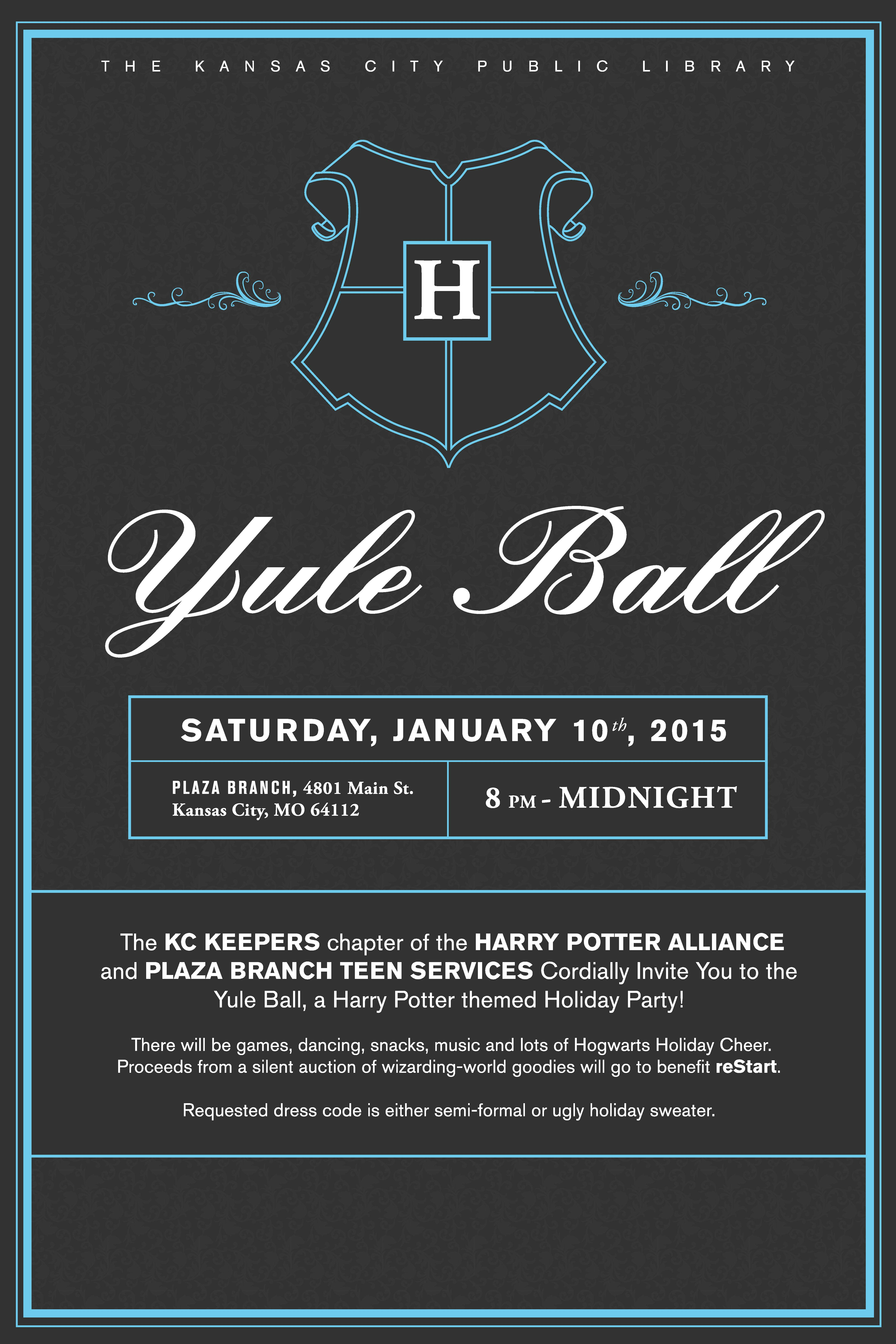 You Are Cordially Invited To The Yule Ball Kansas City Public Library