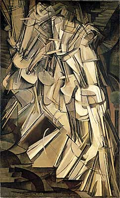 Nude Descending a Staircase, No. 2 by Marcel Duchamp, 1912