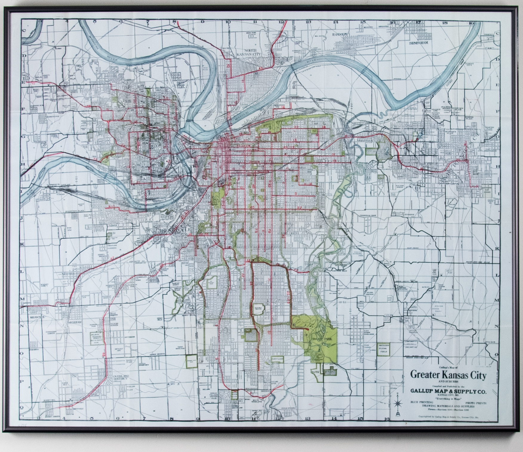Map of Greater Kansas City & Suburbs | Kansas City Public Library