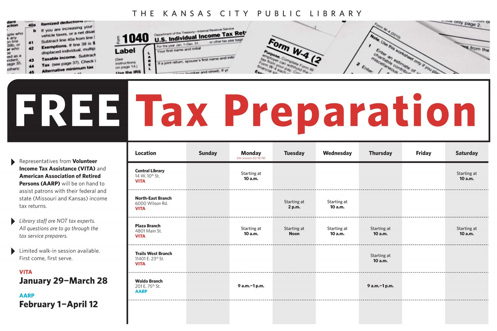 the library offers tax assistance and resources | kansas city public