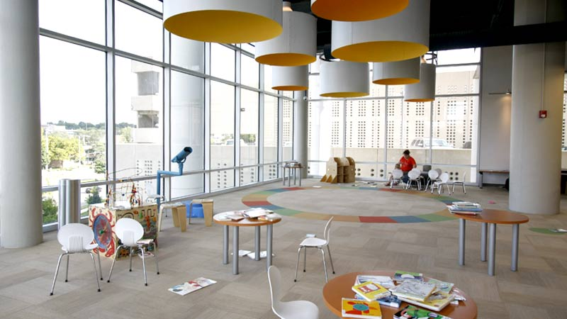 The children's area at the Plaza Branch