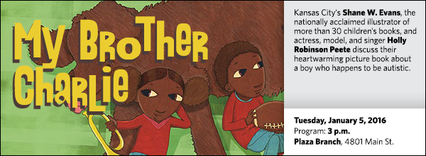 Kansas City's Shane W. Evans, the nationally acclaimed illustrator of more than 30 children's books, and actress, model, and singer Holly Robinson Peete discuss their heartwarming picture book about a boy who happens to be autistic.