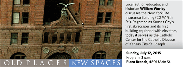 Local author, educator, and historian William Worley discusses the New York Life Insurance Building (20 W. 9th St.). Regarded as Kansas City's first skyscraper and its first building equipped with elevators, today it serves as the Catholic Center for the Catholic Diocese of Kansas City-St. Joseph.