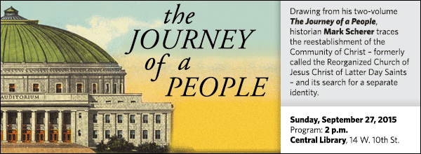 Drawing from his two-volume The Journey of a People, historian Mark Scherer traces the reestablishment of the Community of Christ – formerly called the Reorganized Church of Jesus Christ of Latter Day Saints – and its search for a separate identity.