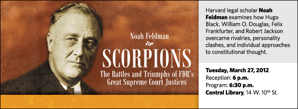 Harvard legal scholar Noah Feldman examines how Hugo Black, William O. Douglas, Felix Frankfurter, and Robert Jackson overcame rivalries, personality clashes, and individual approaches to constitutional thought.