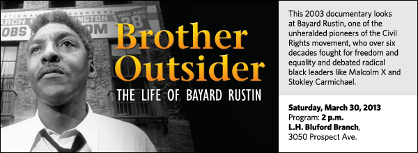 This 2003 documentary looks at Bayard Rustin, one of the unheralded pioneers of the Civil Rights movement, who over six decades fought for freedom and equality and debated radical black leaders like Malcolm X and Stokley Carmichael.