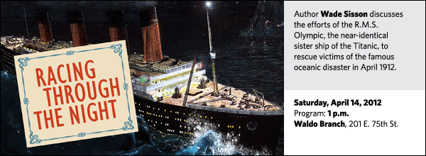 Author Wade Sisson discusses the efforts of the R.M.S. Olympic, the near-identical sister ship of the Titanic, to rescue victims of the famous oceanic disaster in April 1912.
