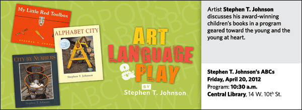 Artist Stephen T. Johnson discusses his award-winning children's books in a program geared toward the young and the young at heart.