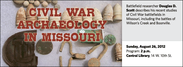 Battlefield researcher Douglas D. Scott describes his recent studies of Civil War battlefields in Missouri, including the battles of Wilson's Creek and Boonville.