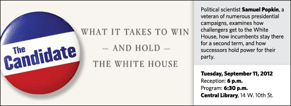 Political scientist Samuel Popkin, a veteran of numerous presidential campaigns, examines how challengers get to the White House, how incumbents stay there for a second term, and how successors hold power for their party.