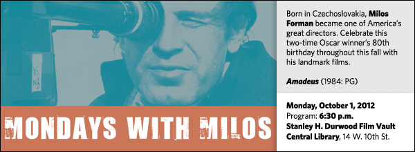 Born in Czechoslovakia, Milos Forman became one of America's great directors. Celebrate this two-time Oscar winner's 80th birthday throughout this fall with his landmark films.
