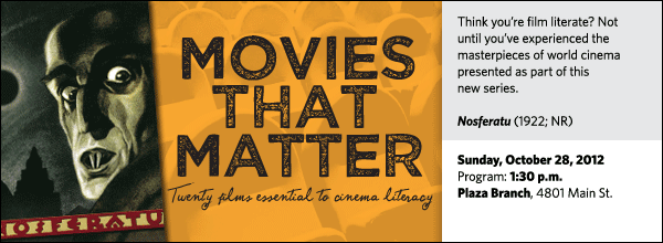 Think you're film literate? Not until you've experienced the masterpieces of world cinema presented as part of this
