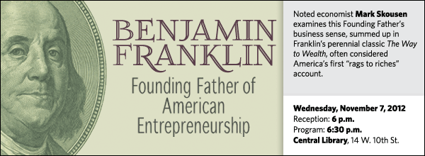 "Noted economist Mark Skousen examines this Founding Father's business sense, summed up in Franklin's perennial classic The Way to Wealth, often considered America's first ""rags to riches"" account."