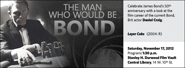 Celebrate James Bond's 50th anniversary with a look at the  film career of the current Bond, Brit actor Daniel Craig.