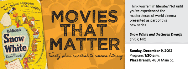 Think you're film literate? Not until you've experienced the masterpieces of world cinema presented as part of this  new series.