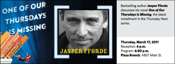 Bestselling author Jasper Fforde discusses his novel One of Our Thursdays Is Missing, the latest installment in the Thursday Next series.