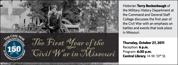 Historian Terry Beckenbaugh of the Military History Department at the Command and General Staff College discusses the first year of the Civil War with an emphasis on battles and events that took place in Missouri.