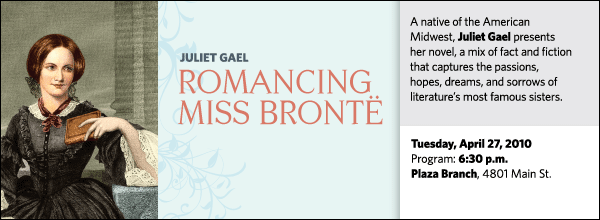 A native of the American Midwest, Juliet Gael presents her novel, a mix of fact and fiction that captures the passions, hopes, dreams, and sorrows of literature's most famous sisters.