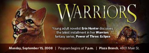 Erin Hunter discusses Warriors: Power  of Three: Eclipse