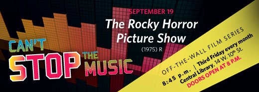 Friends of the  Library sponsor The Rocky Horror Picture Show