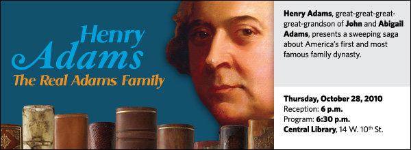 Henry Adams, great-great-great-great-grandson of John and Abigail Adams, presents a sweeping saga about America's first and most famous family dynasty.