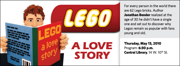For every person in the world there are 62 Lego bricks. Author Jonathan Bender realized at the age of 30 he didn't have a single one and set out to discover why Legos remain so popular with fans young and old.
