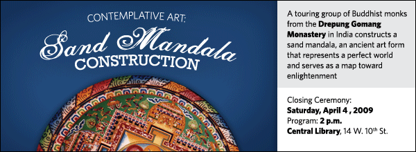 Contemplative Art: Sand Mandala Closing Ceremony