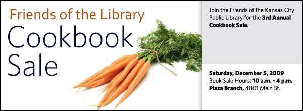 Join the Friends of the Kansas City Public Library for the 3rd Annual Cookbook Sale.