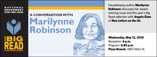 Housekeeping author Marilynne Robinson discusses her award-winning novel and this year's Big Read selection with Angela Elam of New Letters on the Air.