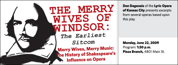 Don Dagenais of the Lyric Opera of Kansas City presents excerpts from several operas based upon this play