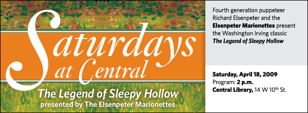 Saturdays at Central: The Elsenpeter Marionettes present The Legend of Sleepy Hollow