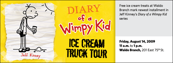 Free ice cream treats at Waldo Branch mark newest installment in Jeff Kinney's Diary of a Wimpy Kid series