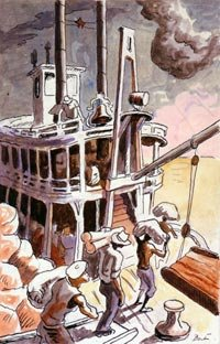 Riverboat Illustration