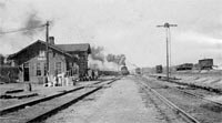 Atchison, Topeka, and Santa Fe Railroad depot in Sibley, Missouri