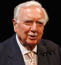 Legendary CBS newsman Walter Cronkite speaks at a ceremony at the National Air and Space Museum in Washington celebrating the 35th anniversary of Apollo 11 in 2004. Source: nasa.gov