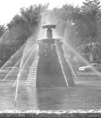 Meyer Memorial fountain at Meyer and Ward Parkway