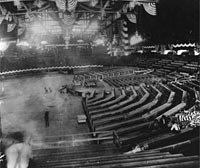 Interior view of Convention Hall showing preparation for the 1900 Democratic National Convention