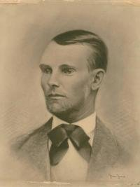 Portrait of Jesse James by A.L. Dillenbeck - Missouri Valley Special Collections