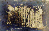 Postcard of Woodward Hall at Park College