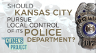 Dave Helling of the Kansas City Star moderates a panel of experts discussing whether Kansas City, Missouri, should switch from a police department run by the state to one under the direct control of the mayor and city council.