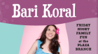 XM Kids Radio Star and PBS featured artist Bari Koral performs pop-friendly tunes that will have your preschooler dancing in the aisles.