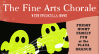 Enjoy a spooky, interactive concert by The Fine Arts Chorale featuring songs woven together with stories told by local storyteller Priscilla Howe.