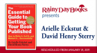 """Described as """"an invaluable resource"""" by both authors and publishers, Eckstut, a literary agent, and Sterry, a book doctor, demystify every step of the publishing process.  Attendees will be randomly selected to pitch their book idea to a panel of experts."""