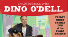 "Celebrate Children's Book Week as Dino O'Dell performs songs from his latest CD Itty Bitty Monsters, including ""I've Got a Friend,"" ""Peanut Butter Pond,"" and ""Smoochin' with a Giant Squid."""