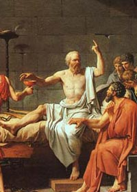 Death of Socrates (detail) by Jacques-Louis David