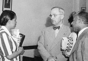 Lucile Bluford with Senator Truman