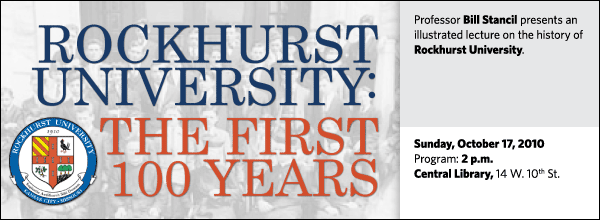 Professor Bill Stancil presents an illustrated lecture on the history of Rockhurst University.