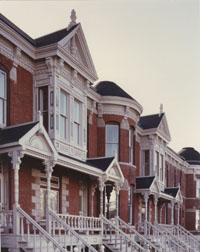 Row houses located near 34th and Main