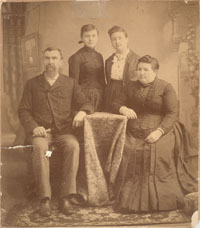 James J. Akard, Wife, and Daughters