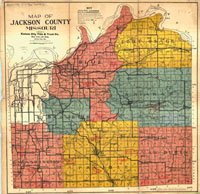 map of Jackson County, MO